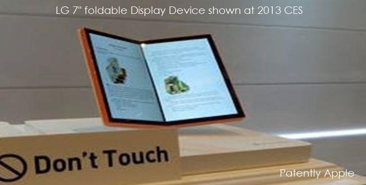 3 X88 LG PROTOTYPE foldable display CES 2013