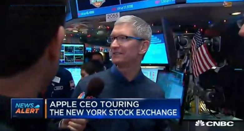 1 AF X 88 TIM COOK AT STOCK MARKET ny