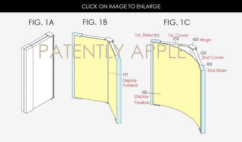 4AF 88 X P-APPLE - SAMSUNG FOLDABLE, FLEXIBLE DSIPLAY DEVICE PATENT APPLICATION DEC 2016
