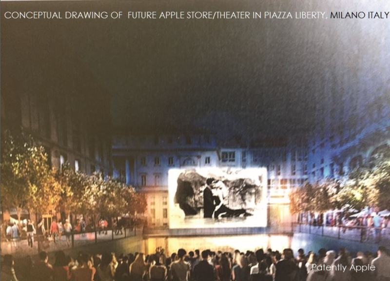 2af X99 - Piazza Liberty Milan Italy Apple store wiith Amphitheater - entertainment area concept drawing #2