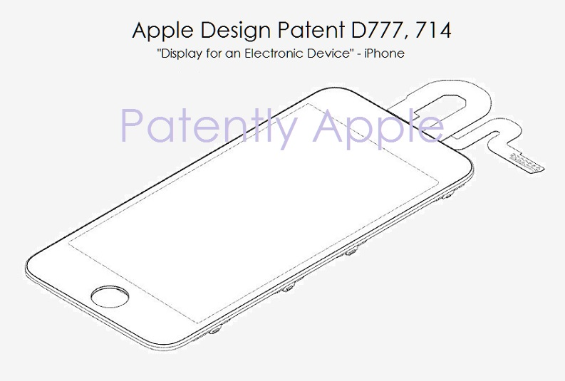 4AF X99 - APPLE DESIGN PATENT FOR AN IPHONE DISPLAY