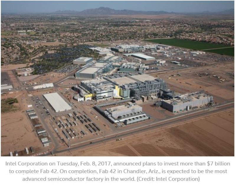 3 X99 intel's plant in arizona to be completed in 2 or 3 years