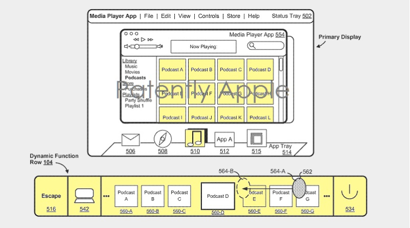 1af 88 cover x apple touch bar patent, europe