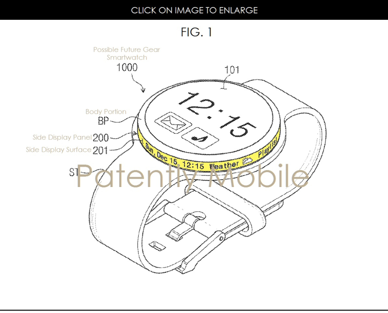 2af 88 samsung patent for new secondary display on watch