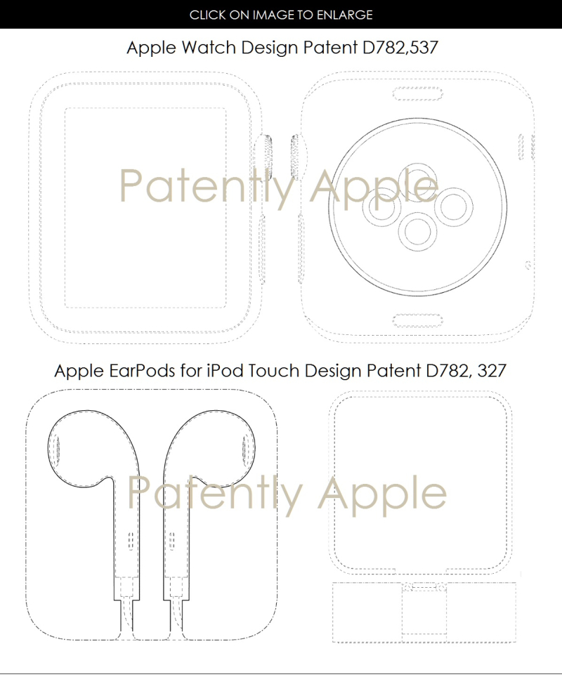 5AF 88 DESIGN PATENTS APPLE WATCH AND EARPOD PACKAGING