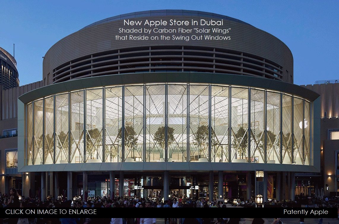 New Apple Dubai Mall Store introduces Motorized 'Solar Wings' that Control the Environmental Conditions of the Store