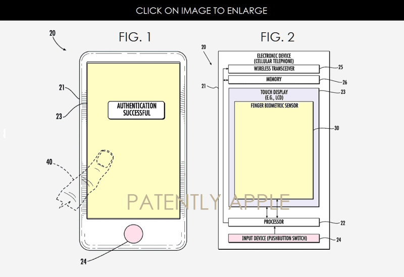 3af x99 apple patent touch id beneath display