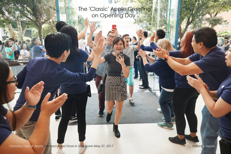 1 cOVER X 99 apple_singapore_orchard_road_employees_high_five_customers