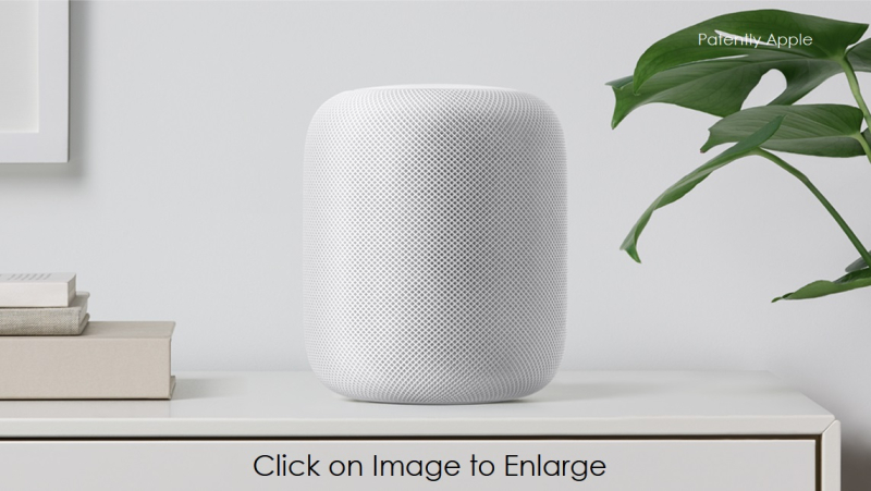 1AF X99 - APPLE homepod-white-shelf - PATENTLY APPLE REPORT JUNE 5  2017