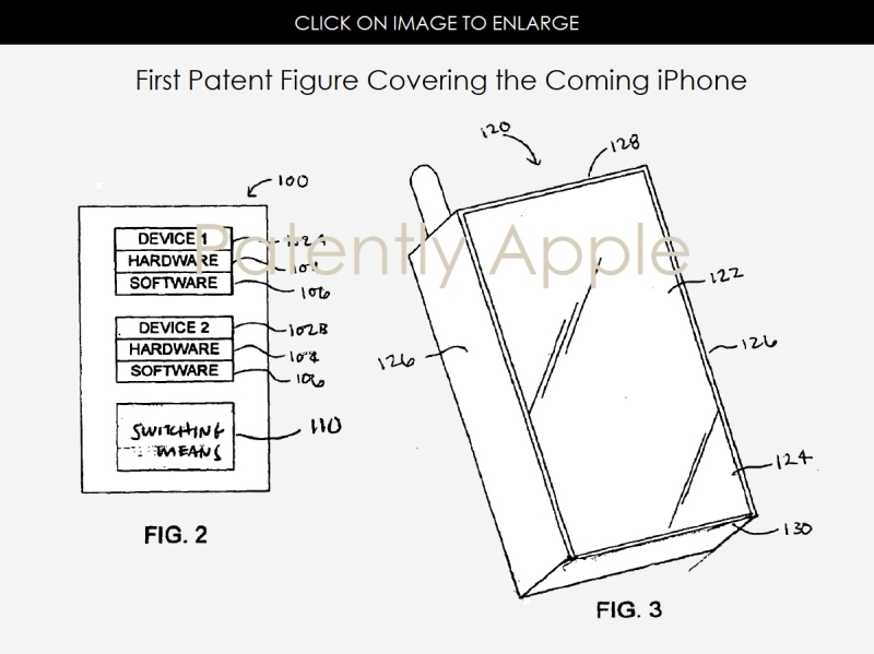 2AF X99 THE ORIGINAL IPHONE PATENT FIGURES  PATENTLY APPLE SEPT 2006