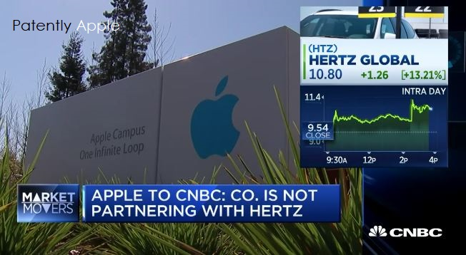 Apple Denies Bloomberg's Report about a Partnership with Hertz for Autonomous Vehicles