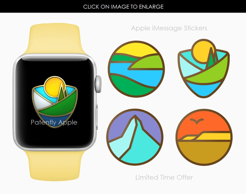 3AF X99 APPLE WATCH STICKERS OF US NATIONAL PARKS