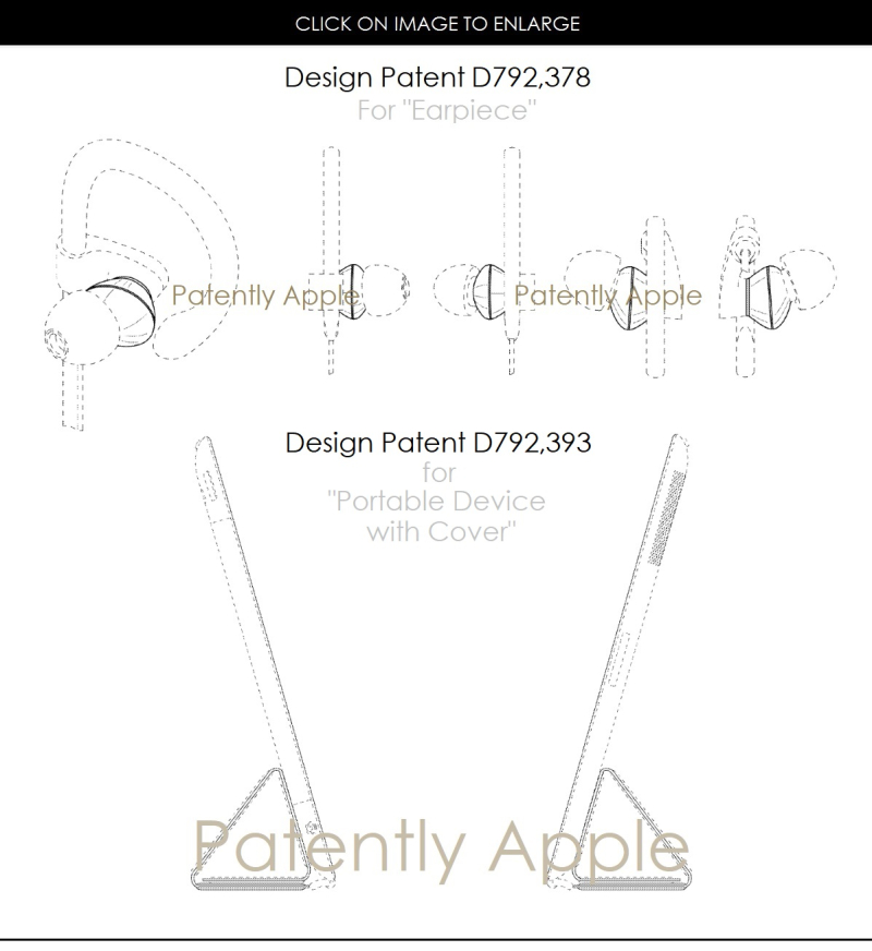 4AF X99 DESIGN PATENTS  EARPIECES - BEATS - IPAD WITH COVER