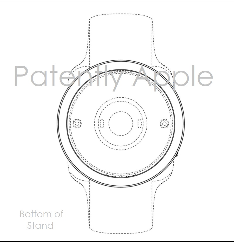 8AF X99 APPLE WATCH STAND - BOTTOM VIEW - HONG DESIGN PATENT  - PATENTLY APPLE