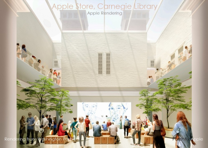 2AF X APPLE RENDERING OF CARNEGIE LIBRARY APPLE STORE  WASHINGTON DC