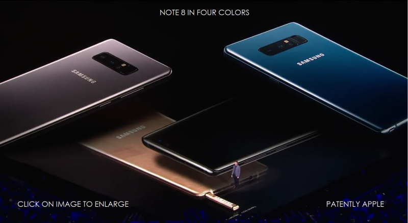 10 SAMSUNG NOTE 8 COLORS