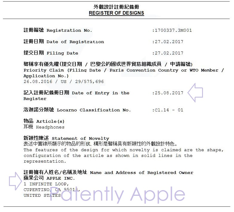 2AF X99 APPLE DESIGN PATENT CHINA BEATSX
