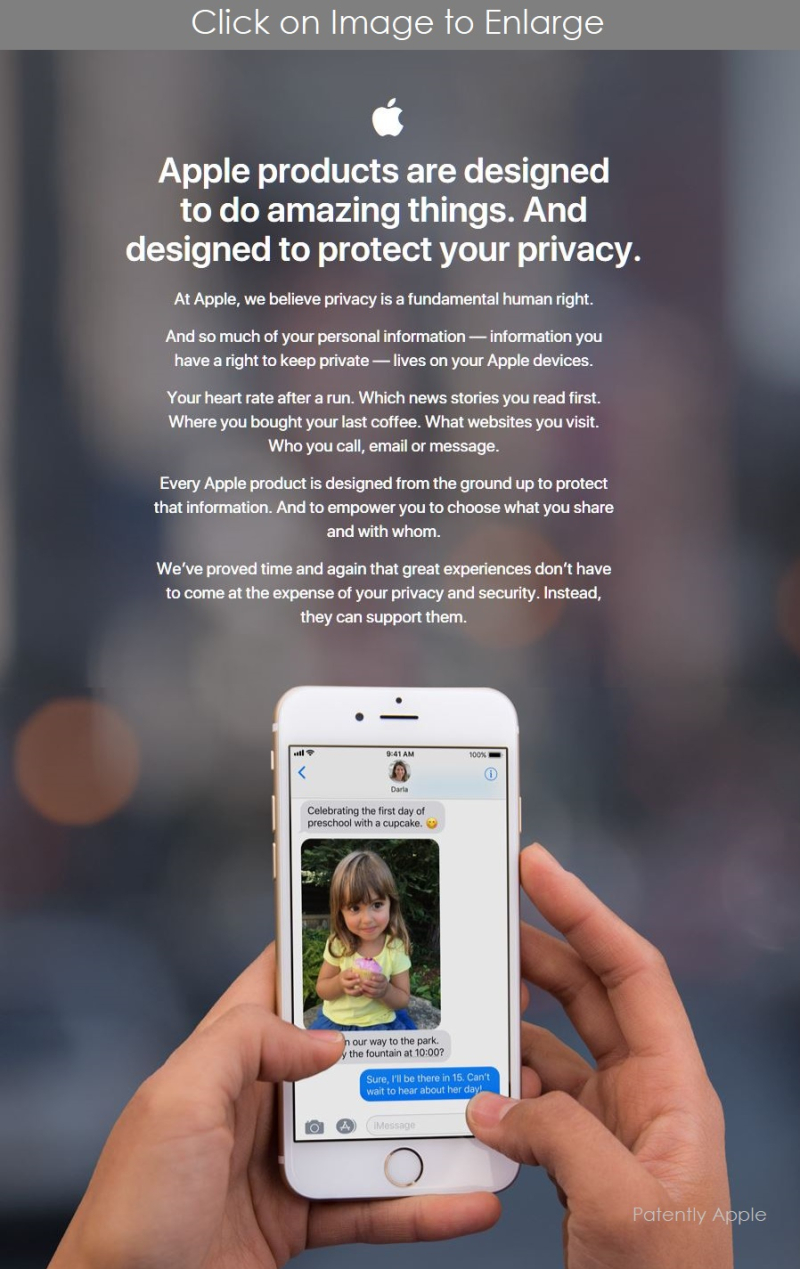 3 NEW PRIVACY PAGE APPLE
