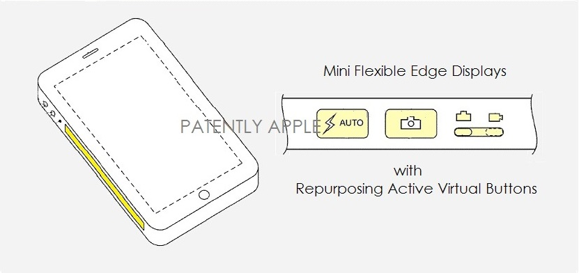 Apple Wins Third Patent for Displays with an Active Edge Icon Area with Emphasis on a Virtual Camera Icon