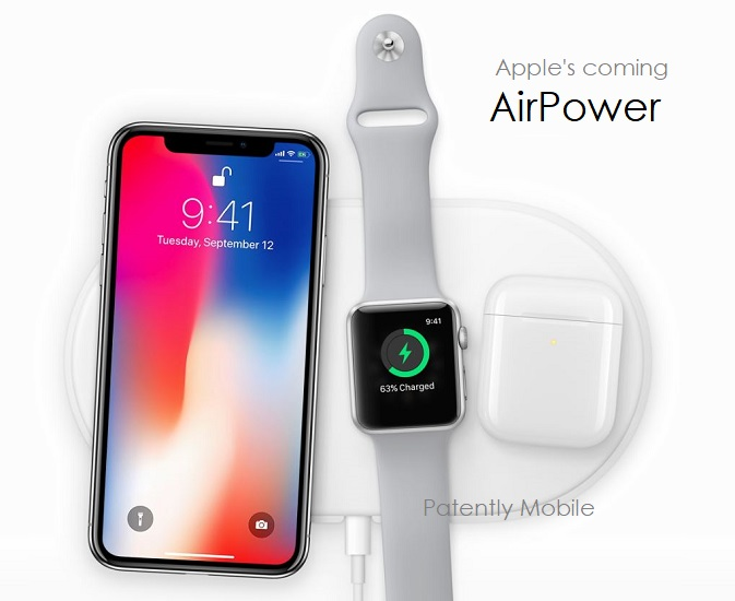 2 apple AIRPOWER wireless charging pad  wide