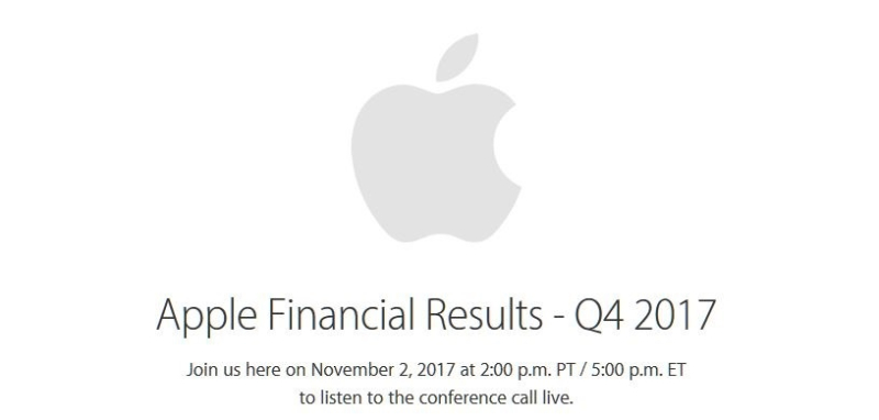 1 cover Apple FISCAL Q4 - CALENDAR Q3 FINANCIALS 2017