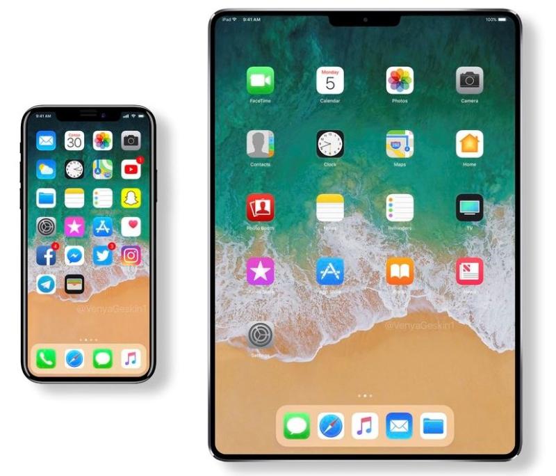 2 iphone X and iPad