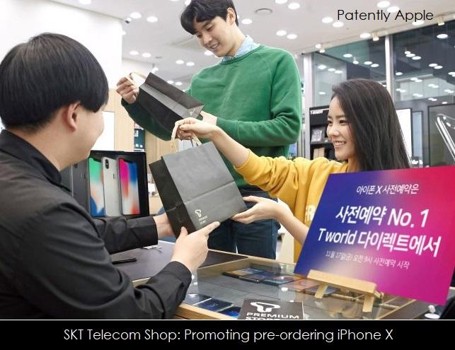 1 COVER NOV 2017 - south korea  SKT Telecom shop promoting iPhone X