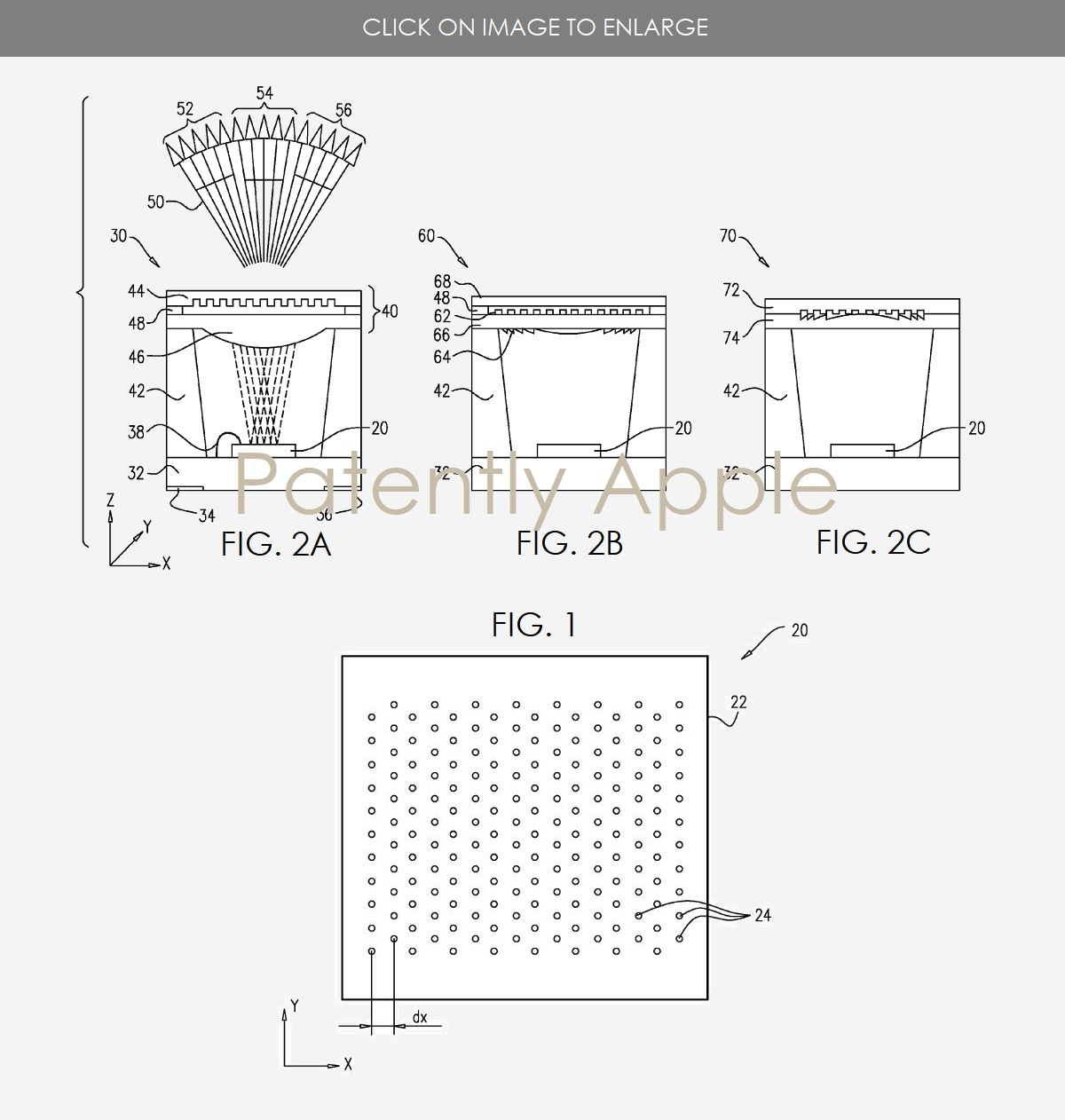 Apple Granted 44 Patents Today Covering the Face ID Dot Projector