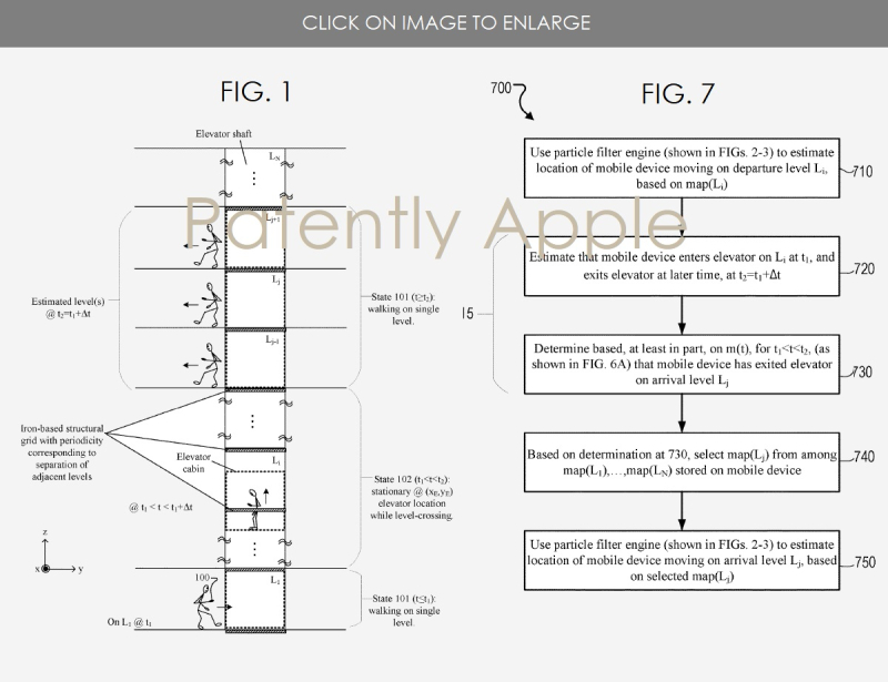 2 INDOOR MAPPING APPLE WINS PATENT FIGS 1 & 7