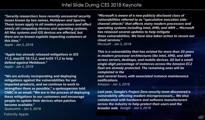 2 X - intel slide ces 2018 Patently Apple