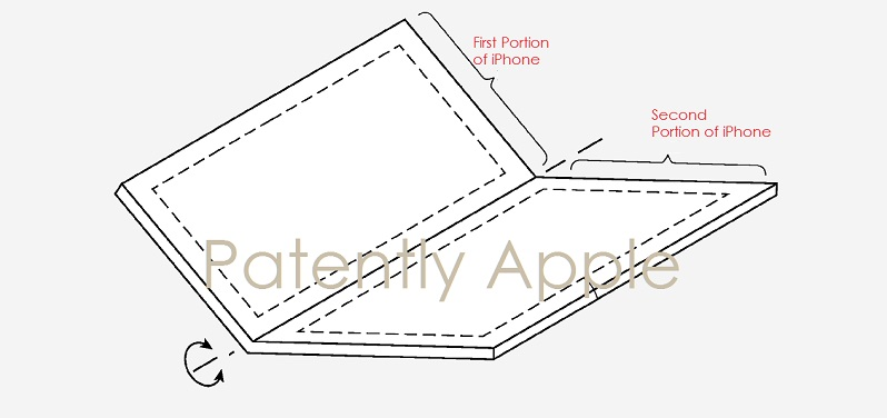 3 patent pending foldable smartphone concept patent from Apple