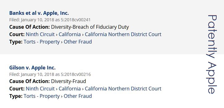 2 - TWO MORE US CLASS ACTIONS filed on jan 10 published today jan 11