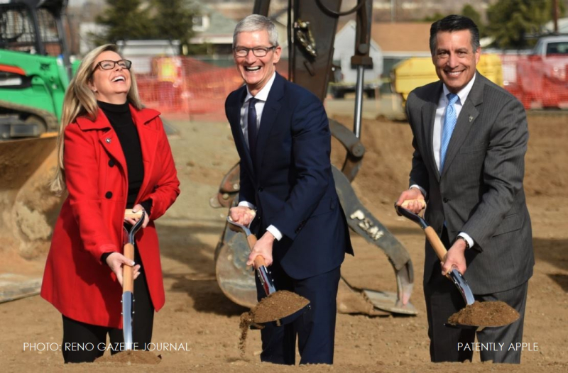 1 X cover Apple in Reno for Ground breaking