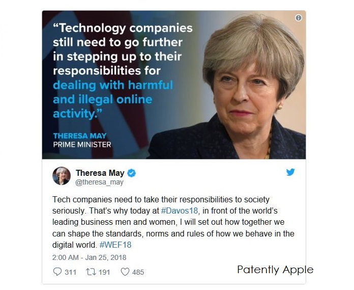 2 Theresa May on social media platforms Jan 25  2018