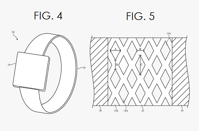 3. STIFFENED FABRIC PATENT FIGS. 4 & 5