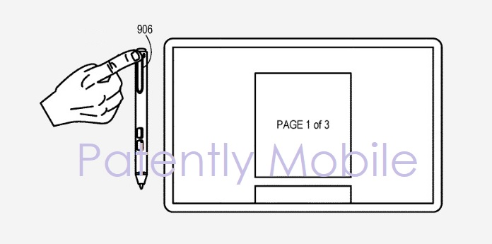 photo image Microsoft is Granted a Patent for a Smart Pen Clip that could be used to Scroll a Page or Zoom in on Objects on Touch…