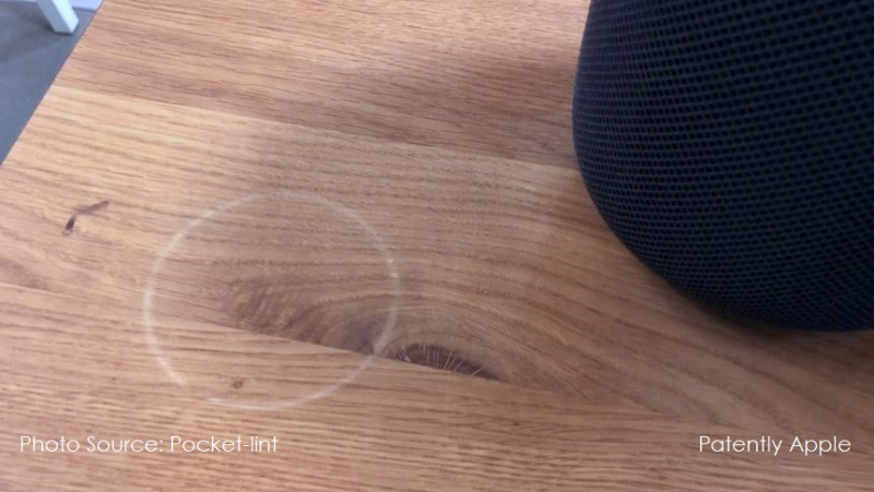1 X cover HomePod leaves rings on wood