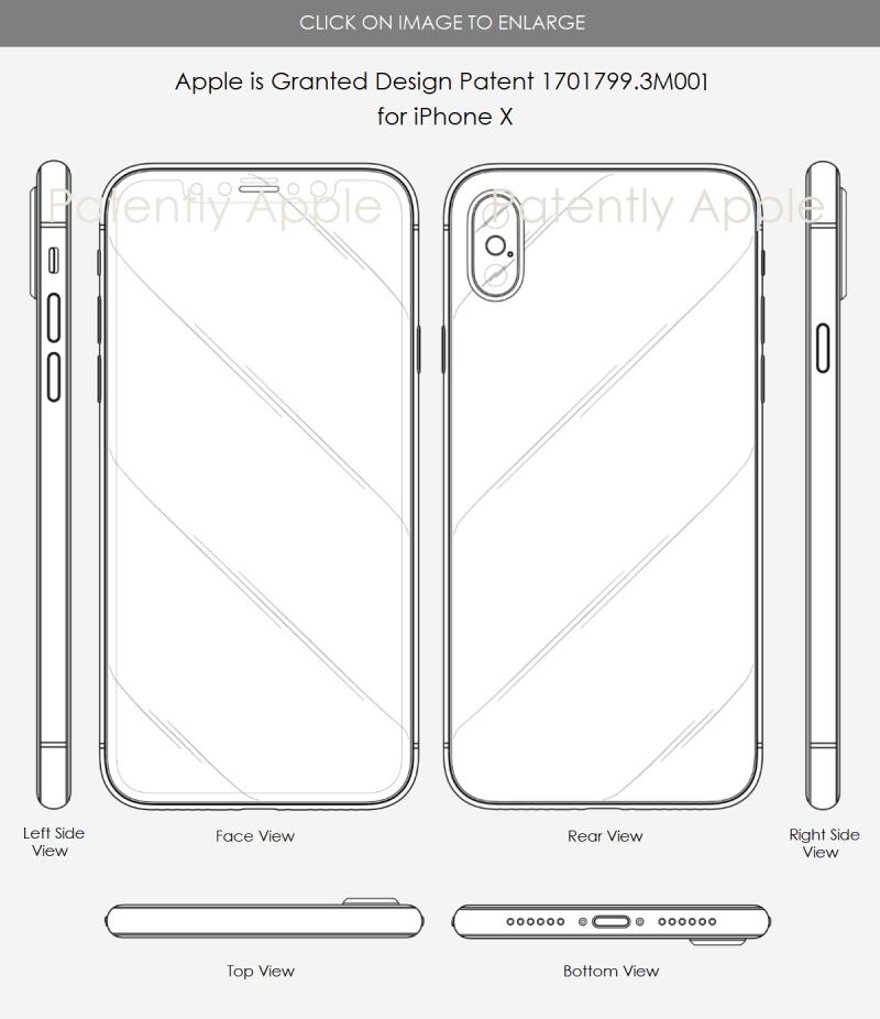 2 Apple Granted design patent 3M001 iphone x in hong kong