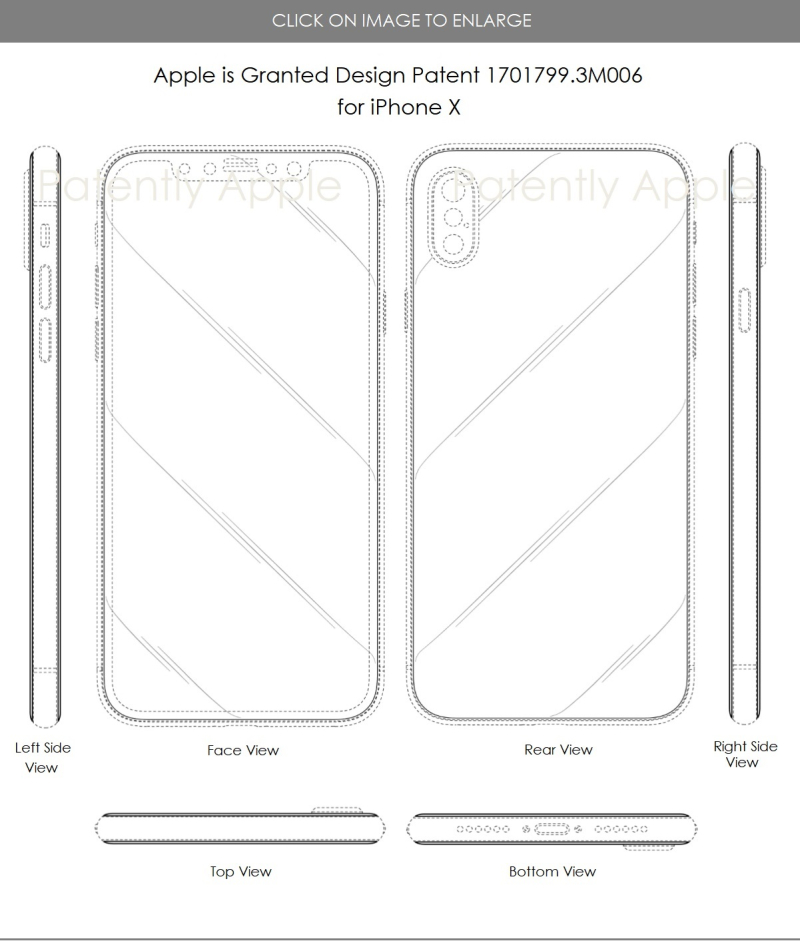 4 x Apple iphone design patents hong kong