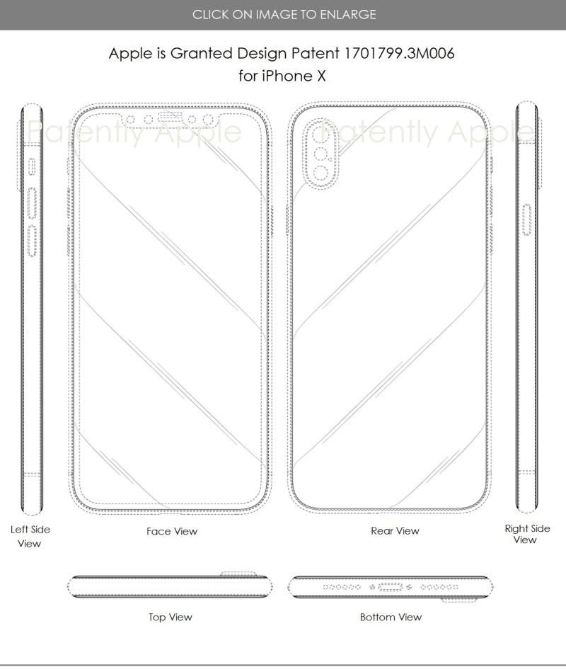4 x Apple iphone design patents hong kong