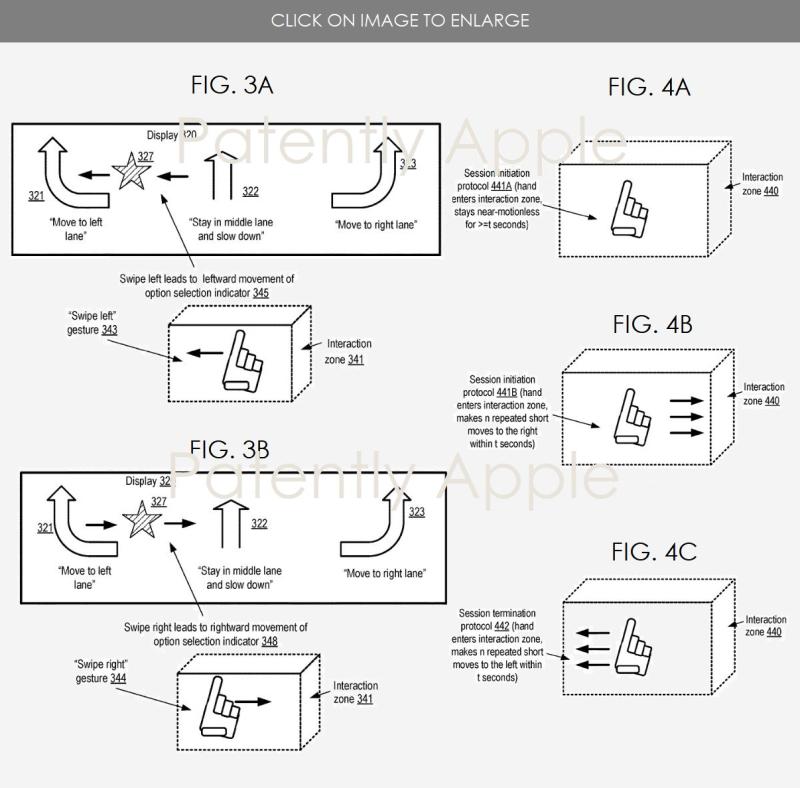4  Project Titan patent gesture controls