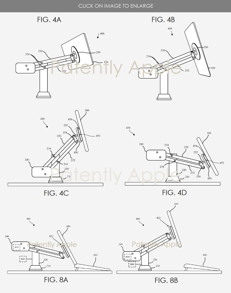 3 apple patent figs 4a-4d & 8a b