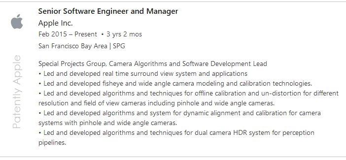 4  X apple engineer experience list