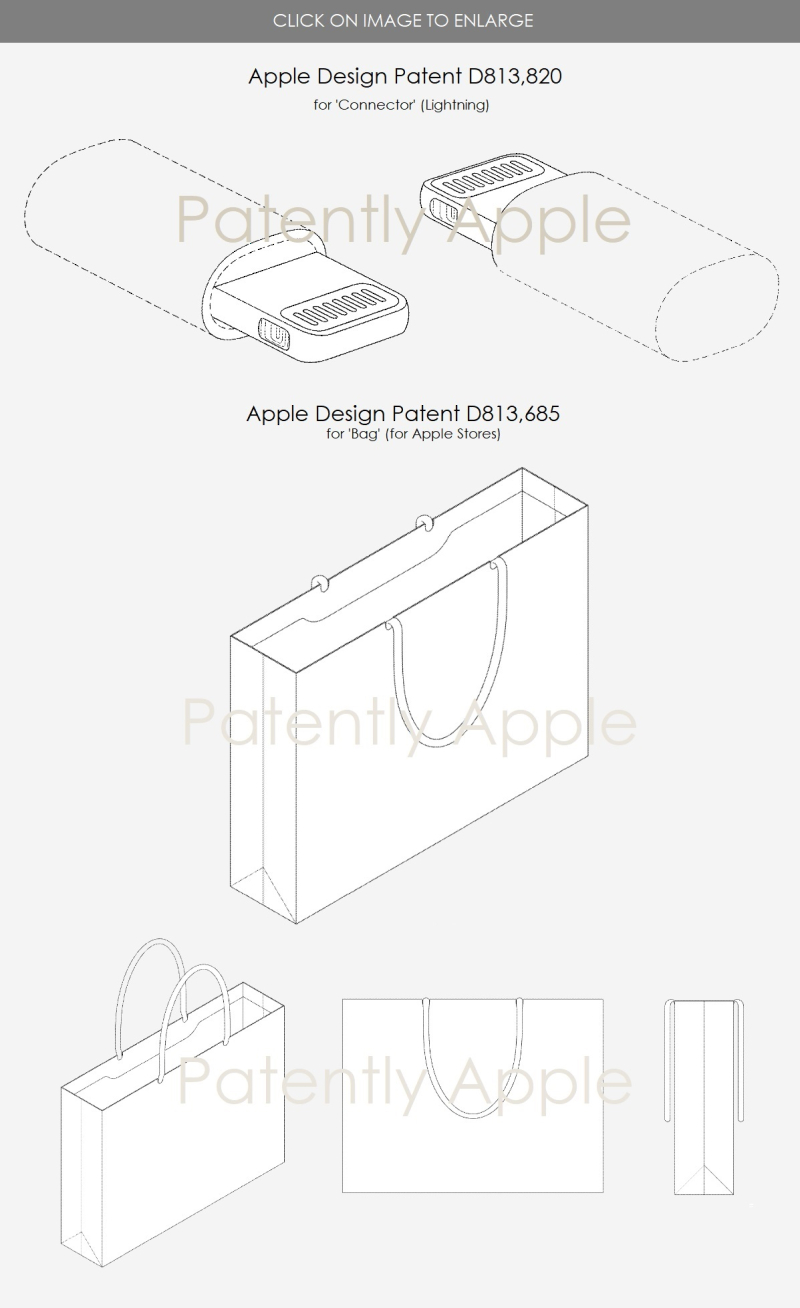 5 - The Key Apple Design patents for Mar 27  2018