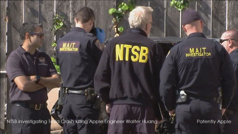 1 cover NTSB investigate tesla crash killing apple engineer  walter haung