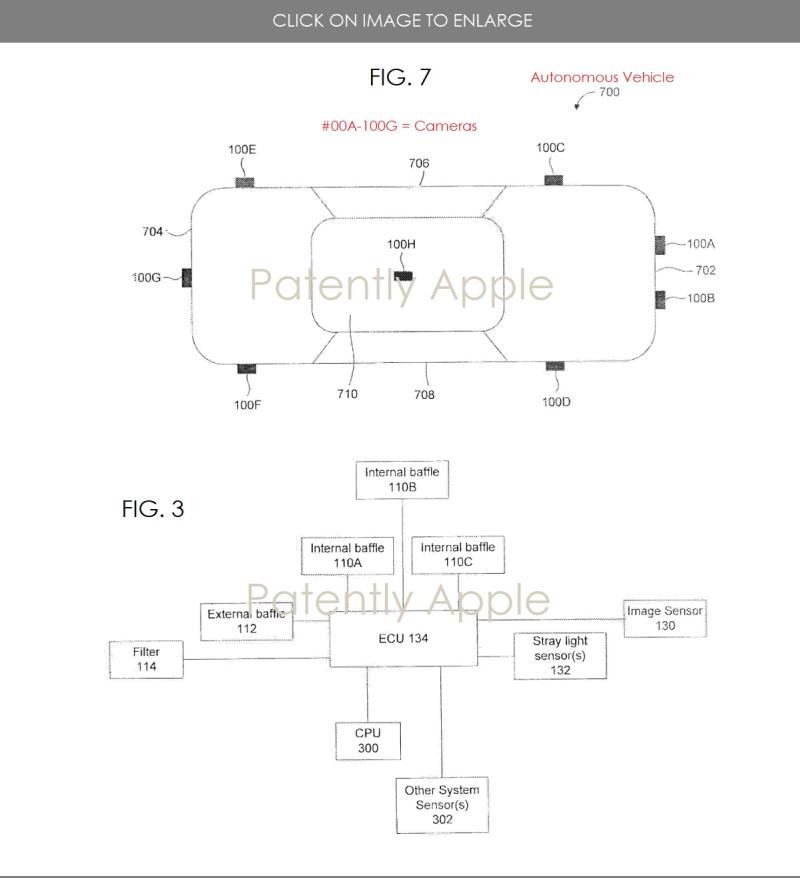 2 camera shade apple patent for autonomous vehicles