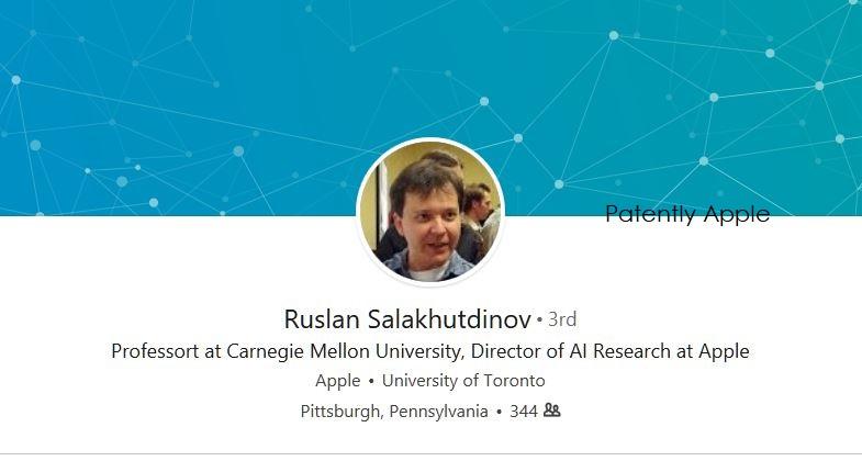3 X - Ruslan Salakhutdinov Director of AI Research at Apple