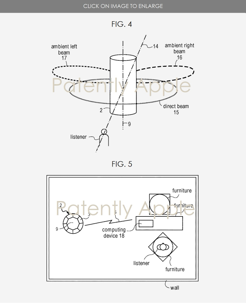 6 apple beamforming patent fig. 5