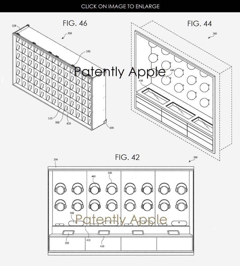 7 Apple modular shelving system for Apple Stores