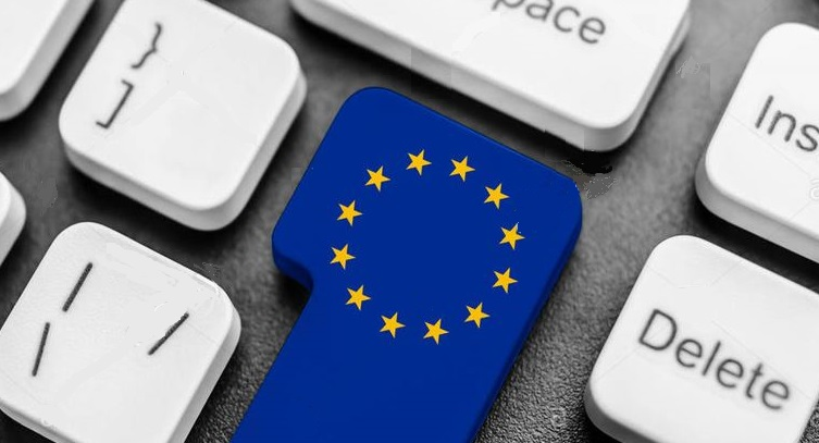 1 X Cover eu on keyboard - eu law for customer data on demand from tech companies